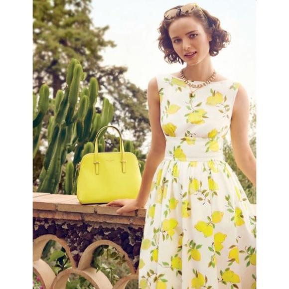 """Kate Spade """"Lyric"""" lemon print dress 0"""